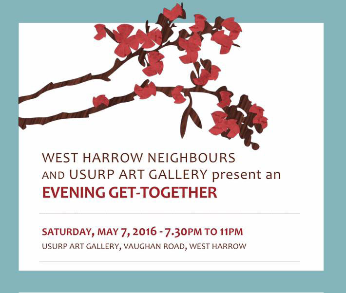 Usurp Art & West Harrow Neighbours Evening Get-Together