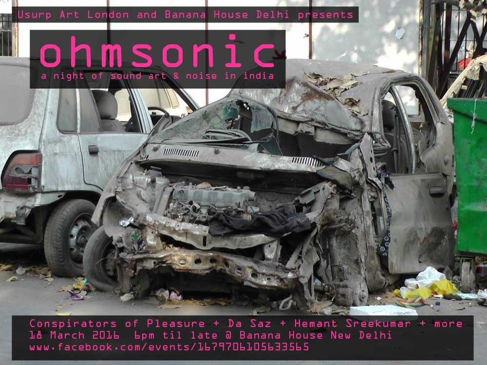 Usurp Art & Banana House Delhi present Ohmsonic