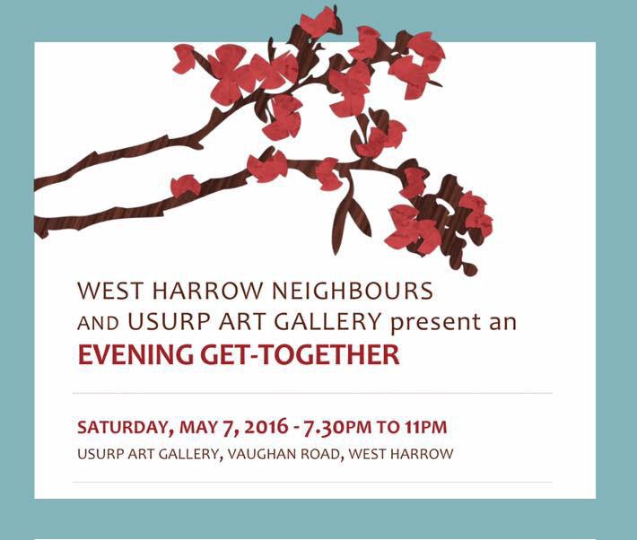 Usurp Art & West Harrow Neighbours Evening Get-Together