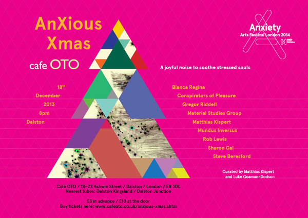 """The Conspirators of Pleasure get """"Anxious"""" for Xmas at Cafe Oto..."""