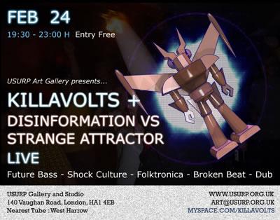 Killa Volts + Disinformation vrs Strange Attractor